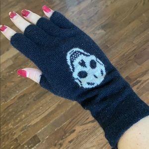 Skull Cashmere gloves